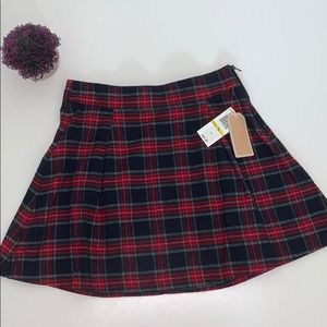 Copper Key Plaid Mini Skirt Size Medium New